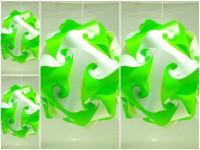 Singh Xpress Ball Shaped- White & Green- Decorative Lights - Pendant Lighting - DIY Cards Kit Plastic Medium Size - Hanging Lights (Combo Of 25) White Plastic Lantern (25.4 Cm X 25.4 Cm, Pack Of 25)