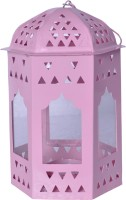 Sutra Decor Pink Glass Lantern (6.25 Cm X 3.5 Cm, Pack Of 1)