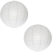 NXT GEN White Paper Lantern Pack Of 2 White Paper Lantern (39 Cm X 39 Cm, Pack Of 2)