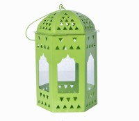 Sutra Decor Green Glass Lantern (6.25 Cm X 3.5 Cm, Pack Of 1)