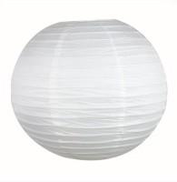 Dhol Dhamaka Paper Lantern (White, Pack Of 1)