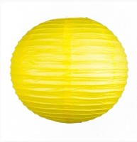 Skycandle 10″ Yellow Even Ribbing Round Paper Lantern (Yellow, Pack Of 1)