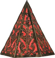 Furncoms Pyramid Hanging-81S Wall Lamp (30 Cm, Red)