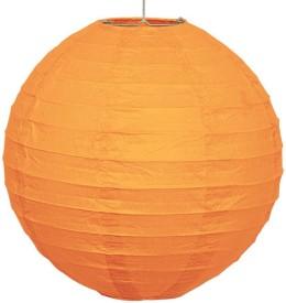 Skycandle 10″ Orange Even Ribbing Round Paper Lantern (Orange, Pack Of 1)