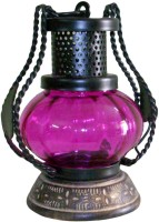 The Woods Hut Pink Iron Lantern (17.78 Cm X 12.7 Cm, Pack Of 1)