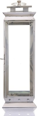 Ninety One Degree Long Ivory Moroccan Steel Stainless Steel Lantern (42 Cm X 14 Cm)