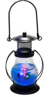 Premk Laltan Candle With Fragrances Blue Glass Lantern (12 Cm X 5 Cm, Pack Of 1)