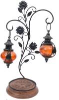 Artist Haat Wood Handicraft Hanging Lamp Brown Wooden Lantern (45 Cm X 25 Cm, Pack Of 1)