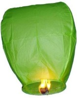 Skycandle Green Paper Sky Lantern (80 Cm X 45 Cm, Pack Of 10)