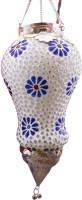 Susajjit Artistic Designer Decorative Hanging Lamp(without Holder) Multicolor Glass Lantern (24 Cm X 13 Cm, Pack Of 1)