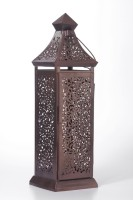 Goyal India Brown Iron Lantern (18 Cm X 18 Cm, Pack Of 1)