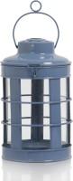 Ninety One Degree Beautiful Designer Blue Round Iron Lantern (Blue, Pack Of 1)