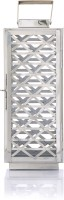 Ninety One Degree Crossing Square Steel Stainless Steel Lantern (42 Cm X 17 Cm)