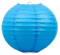 Skycandle 16″ Blue Even Ribbing Round Paper Lantern (Blue, Pack Of 1)