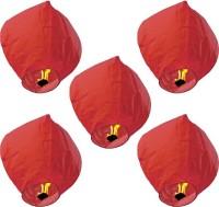 Skycandle Red Sky Lanterns Red Paper Sky Lantern (80 Cm X 45 Cm, Pack Of 5)
