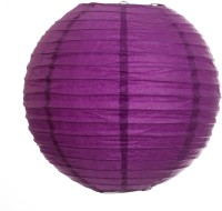 Skycandle 8″ Purple Even Ribbing Round Paper Lantern (Purple, Pack Of 1)
