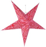 Vintage Art And Crafts Red Paper Christmas Star (50 Cm X 50 Cm, Pack Of 1)