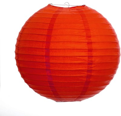 Skycandle 8″ Red Even Ribbing Round Paper Lantern (Red, Pack Of 1)