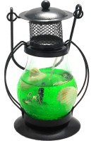 Premk Laltan Candle & Fragrances With Light Green Glass Lantern (12 Cm X 5 Cm, Pack Of 1)