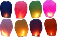 LAMPS OF INDIA Multicolor Paper Sky Lantern (85 Cm X 45 Cm, Pack Of 30)