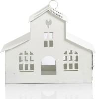 Ninety One Degree Beautiful Ivory House White Iron Lantern (29 Cm X 22 Cm, Pack Of 1)