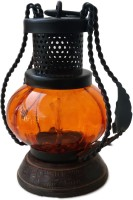 The Woods Hut Orange Iron Lantern (17.78 Cm X 12.7 Cm, Pack Of 1)