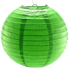 Dhol Dhamaka Paper Lantern (Green, Pack Of 1)