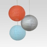 Christmastreeshops.in Paper Lantern (Multicolor, Pack Of 3)