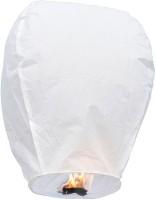 Skycandle White Sky Lanterns White Paper Sky Lantern (80 Cm X 45 Cm, Pack Of 15)