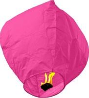 Skycandle Pink Paper Sky Lantern (80 Cm X 45 Cm, Pack Of 10)