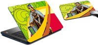 MeSleep Royal King Walk Laptop Skin And Mouse Pad 172 Combo Set (Multicolor)