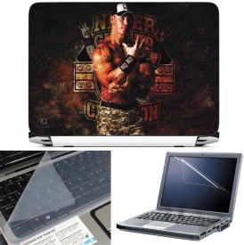 FineArts Cena 3 in 1 Laptop Skin Pack With Screen Guard & Key Protector Combo Set