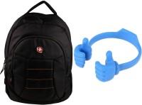QP360 Laptop Bag And Ok Holder For Iphone Combo Set (Black, Blue)