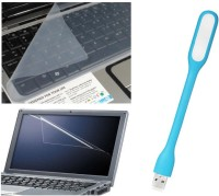 QP360 Screen Protector 14inch,Skin 14inch,USB Light Light Blue Combo Set (Transparent, Light Blue)