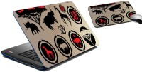 MeSleep African Animal Print Laptop Skin And Mouse Pad 292 Combo Set (Multicolor)