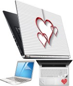 FineArts Heart H066 4 in 1 Laptop Skin Pack with Screen Guard, Key Protector and Palmrest Skin