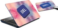 MeSleep Del Laptop Skin And Mouse Pad 282 Combo Set (Multicolor)