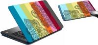 MeSleep Paisley Multicolor Laptop Skin 243 Combo Set (Multicolor)