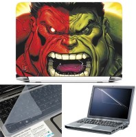 FineArts Red Hulk Vs Green Hulk 3 In 1 Laptop Skin Pack With Screen Guard & Key Protector Combo Set (Multicolor)