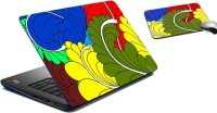 MeSleep Leavues Colorful Laptop Skin And Mouse Pad 175 Combo Set (Multicolor)