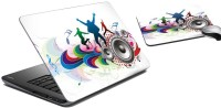 MeSleep Music Laptop Skin And Mouse Pad 21 Combo Set (Multicolor)