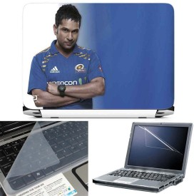 FineArts Sachin Tendulkar 3 in 1 Laptop Skin Pack With Screen Guard & Key Protector Combo Set