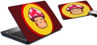 MeSleep Shy Face Girl Laptop Skin And Mouse Pad 114 Combo Set (Multicolor)
