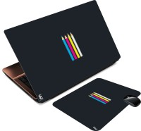 Print Shapes Minimal Pencils Combo Set (Multicolor)
