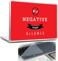 Headturnerz No Negative Thoughts Allowed Red Motivational Inspirational Quote Combo Set - Multicolor