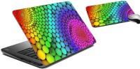 MeSleep Abstract Laptop Skin And Mouse Pad 51 Combo Set (Multicolor)