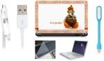 Print Shapes Ganesha Laptop Skin,keyboard & screen protector,Key Guard,usb led & charging data cable