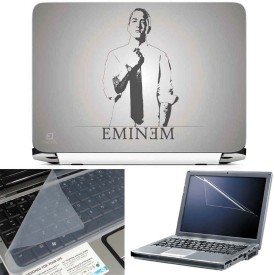 FineArts Eminem 3 in 1 Laptop Skin Pack With Screen Guard & Key Protector Combo Set