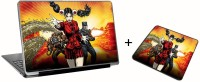 Aurra Larry Laffer Laptop Skin And Mousepad Skin Combo Set Combo Set (Multicolor)