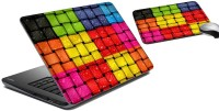 MeSleep Color Cube Laptop Skin And Mouse Pad 32 Combo Set (Multicolor)